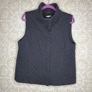 Eileen Fisher Quilted Cotton Vest L
